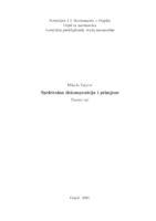 prikaz prve stranice dokumenta Spektralna dekompozicija i primjene